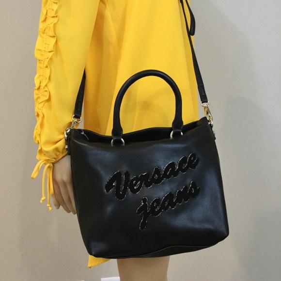 71111fb70a Versace Jeans Black Leather Crossbody
